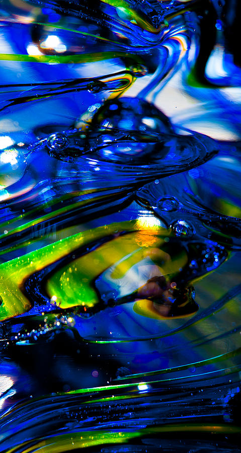 Seattle Seahawks Photograph - Blue Crystal by David Patterson