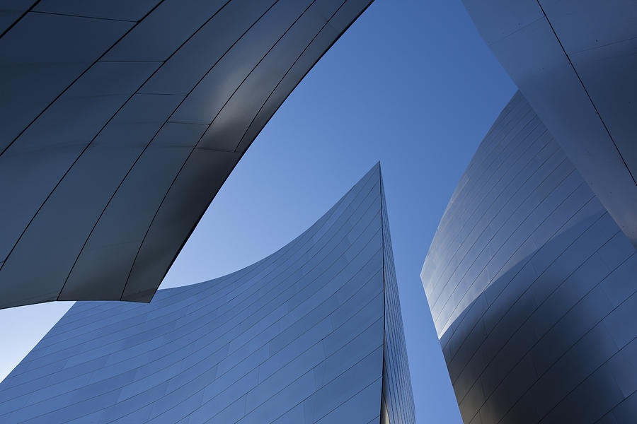 Sky Photograph - Blue Curves 1 by Geoff Scott