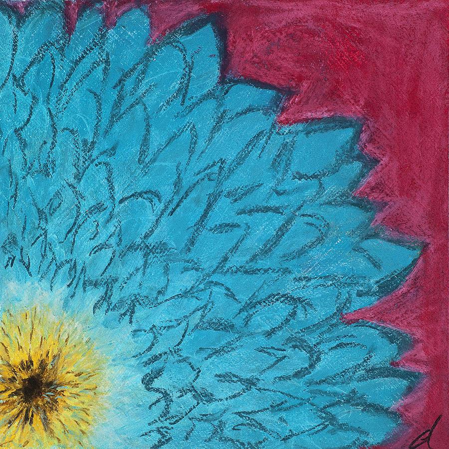 Blue Painting - Blue Daisy by Dana Strotheide
