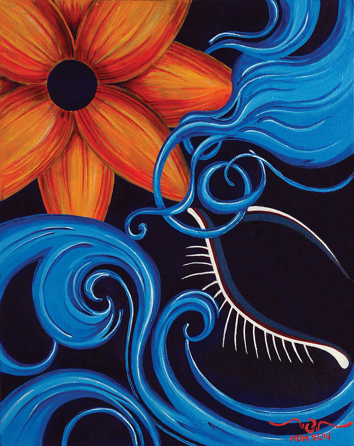 Painting Painting - Blue by Divinity MonSun Chan