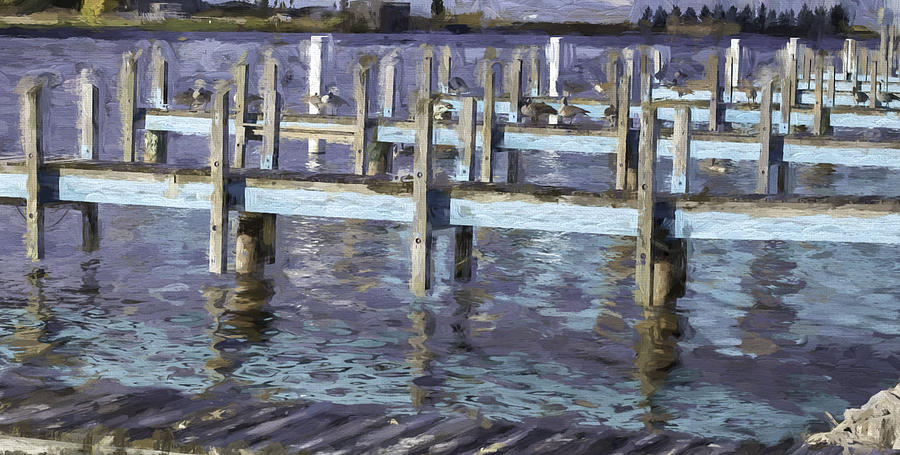 Blue Dock by Mary Underwood