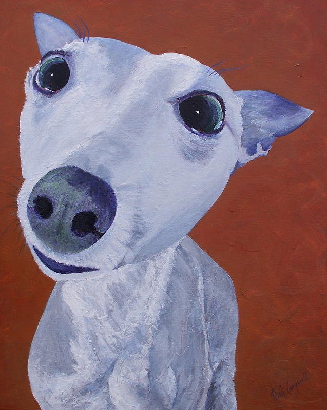Dogs Painting - Blue Dog by Trish Campbell