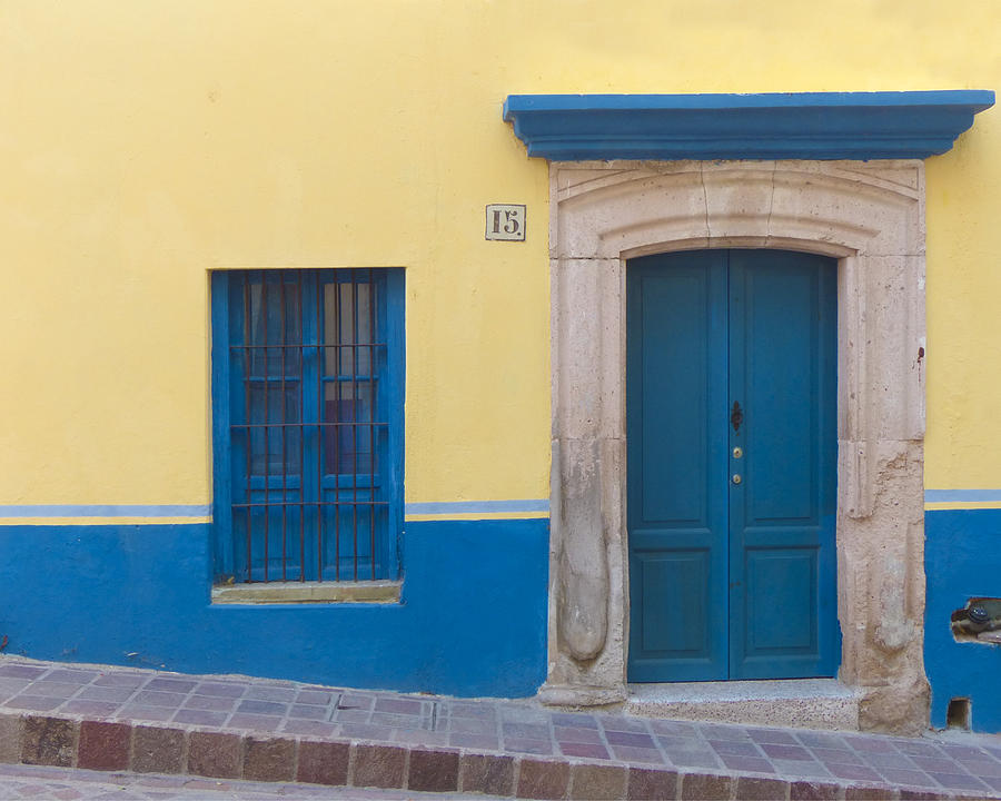 Mexico Photograph - Blue Door by Douglas J Fisher