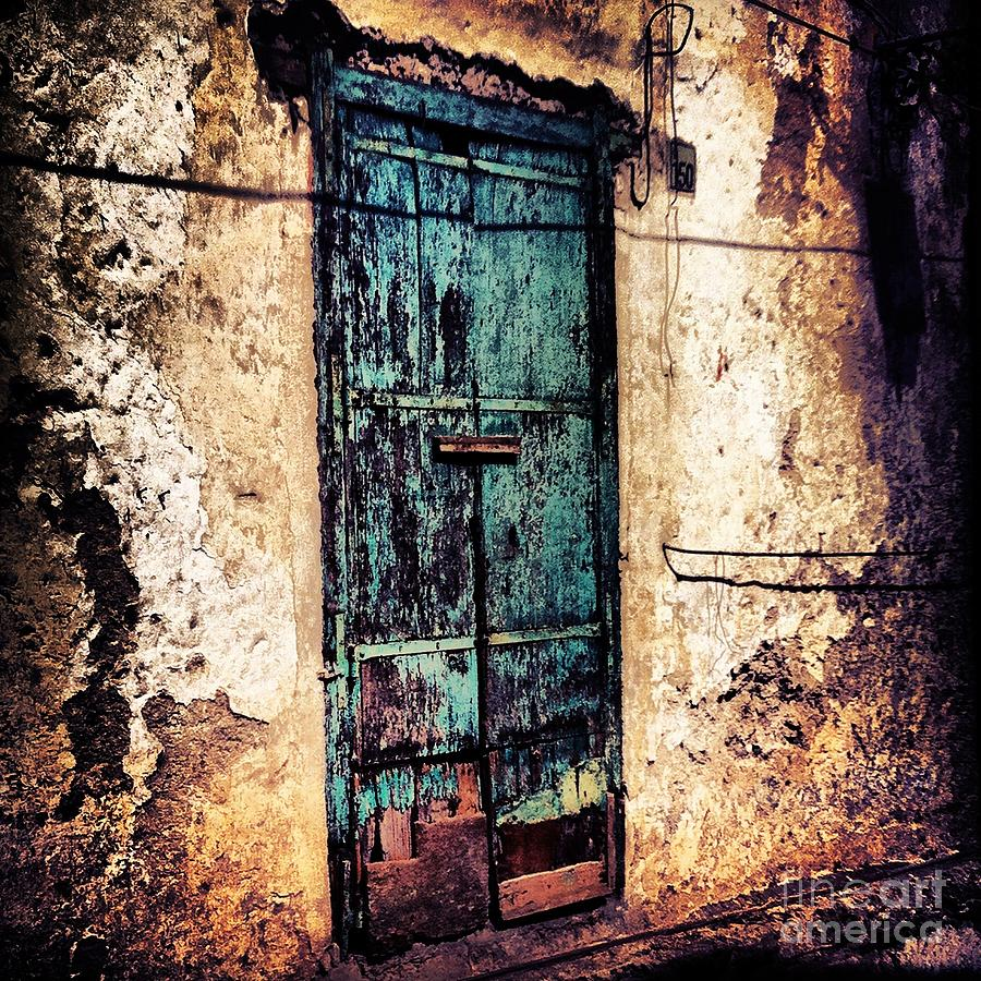 Amalfi Coast Photograph - Blue Door by H Hoffman