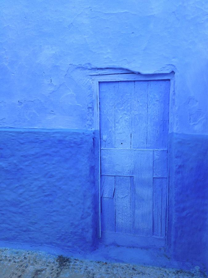 Blue Door In Chefchaouen Photograph by Nickydom