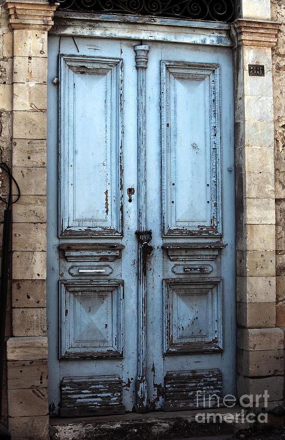 Blue Door Photograph - Blue Door In Limassol by John Rizzuto