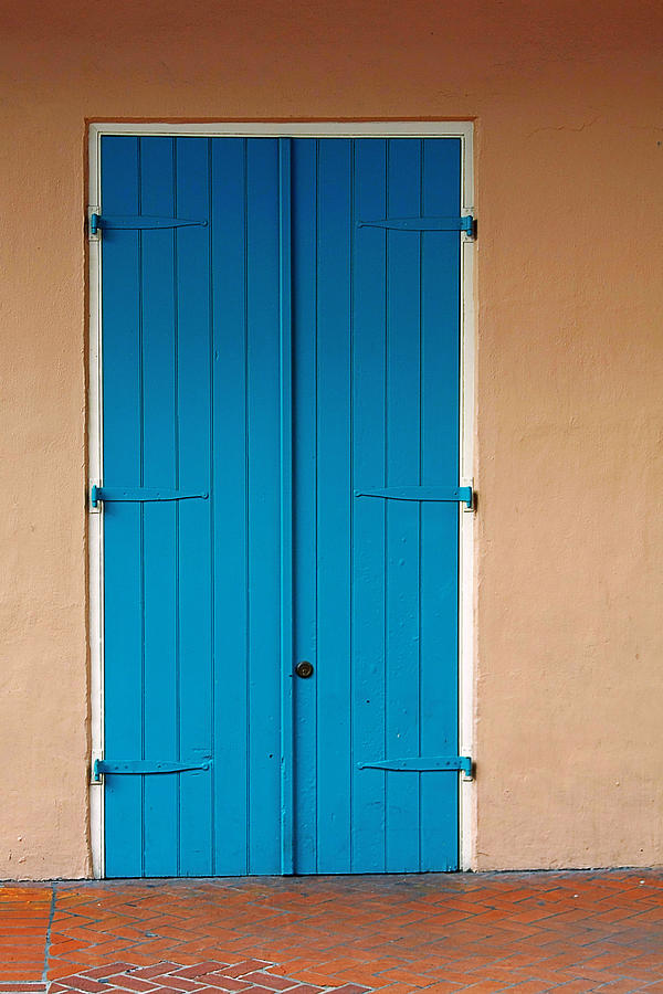 Front Photograph - Blue Door In New Orleans by Christine Till