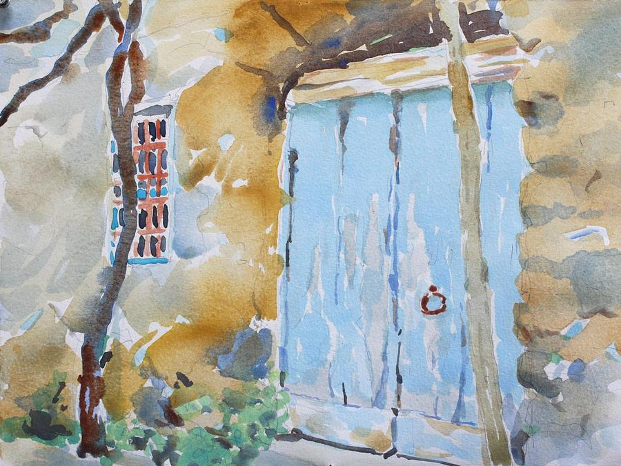 Watercolor Painting - Blue Door Sorrento by Owen Hunt