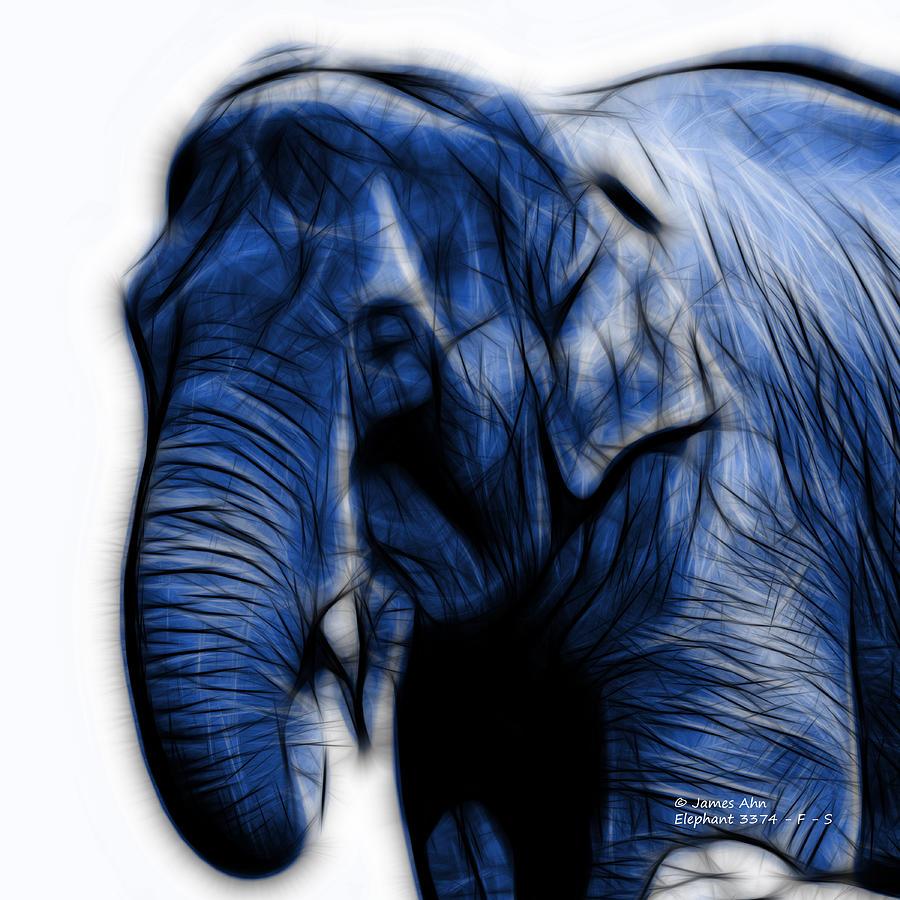 Blue Elephant 3374 F S Digital Art By James Ahn