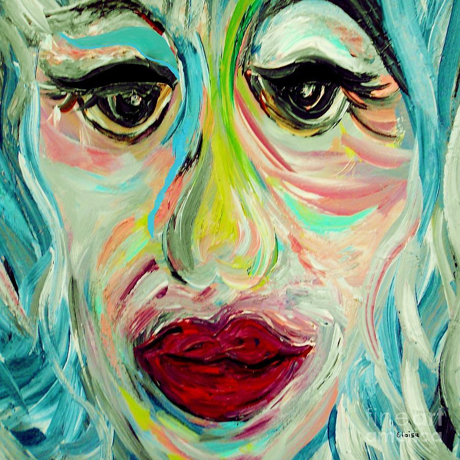 Blue Painting - Blue by Eloise Schneider