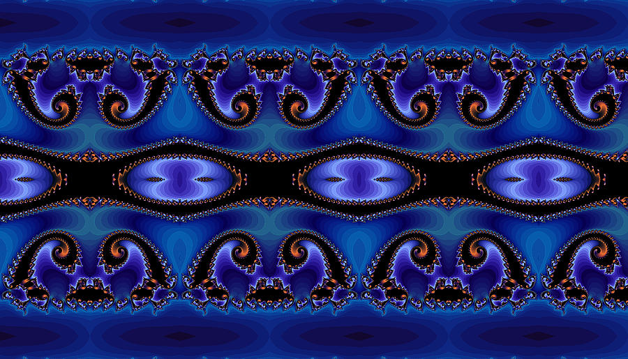 Abstract Digital Art - Blue Energy Abstract by Sabre Tooth
