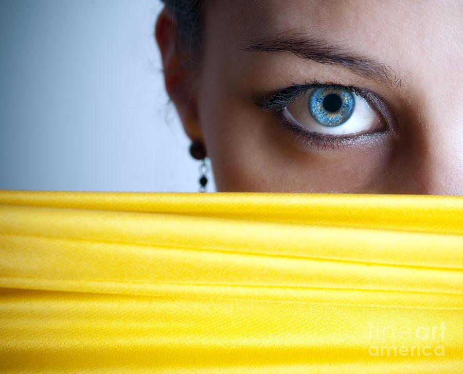 Eye Photograph - Blue Eye by Jelena Jovanovic