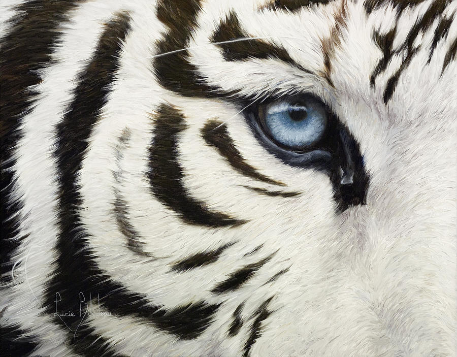 Blue Eye Painting by Lucie Bilodeau