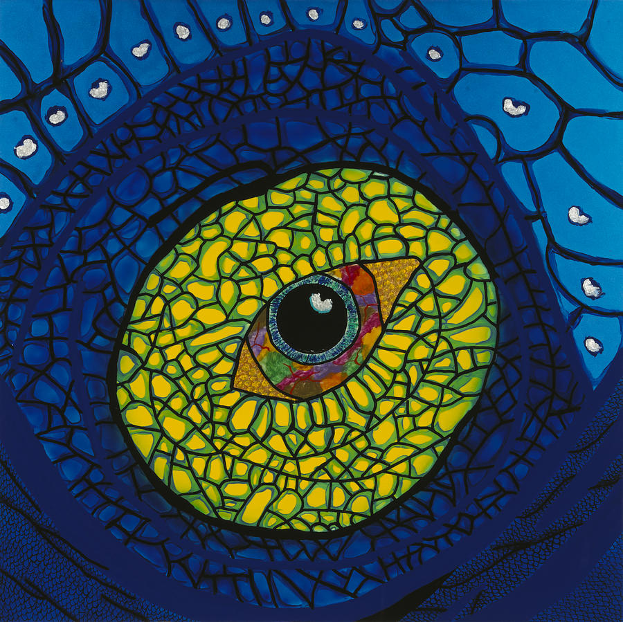 Acrylic Painting - Blue Eye by Patrick OLeary