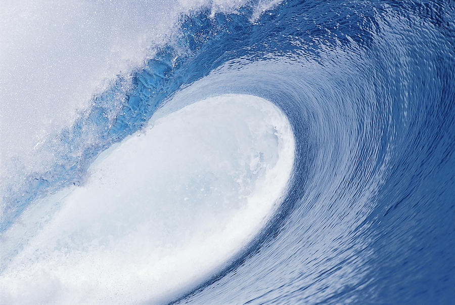 Perfect Wave Photograph - Blue Eye by Sean Davey