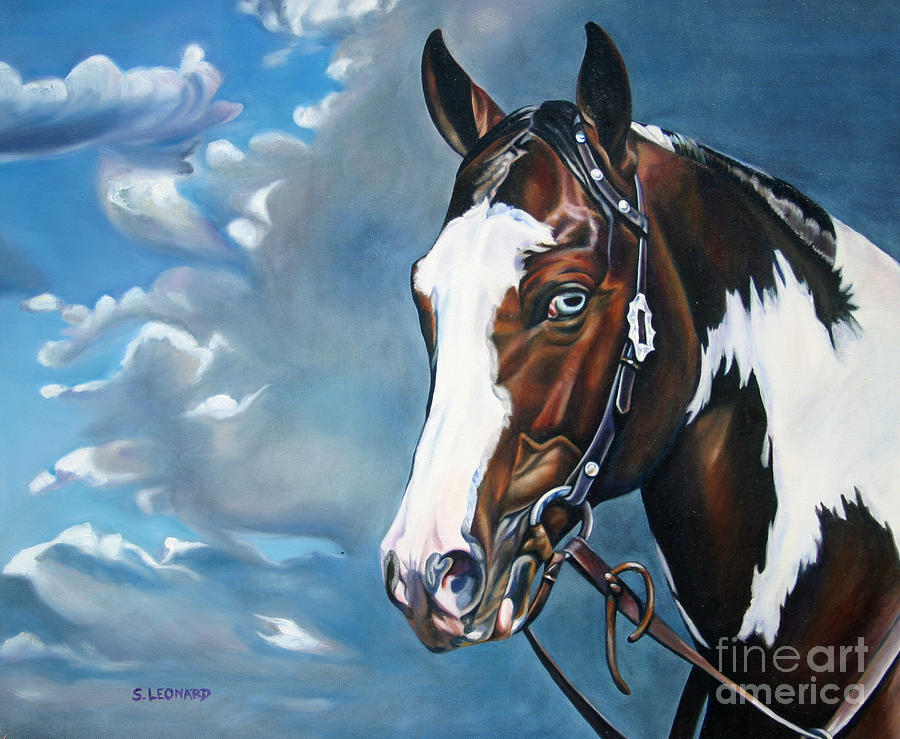 Paint Painting - Blue Eye by Suzanne Leonard