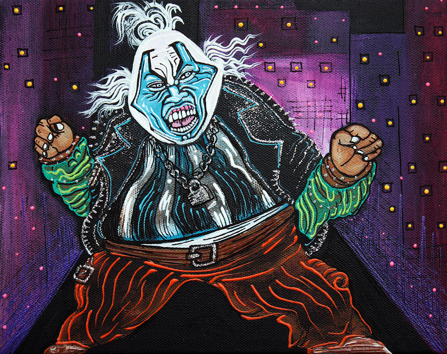 Spawn Painting - Blue Faced Clown by Laura Barbosa
