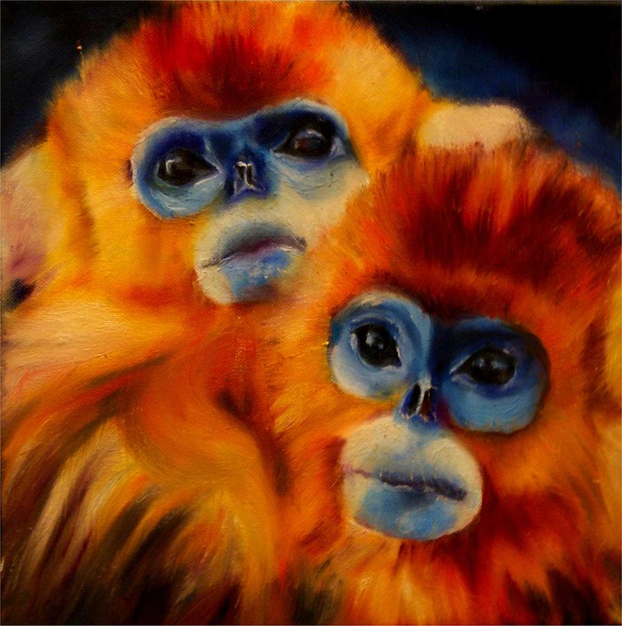 Monkey Acrylic Painting
