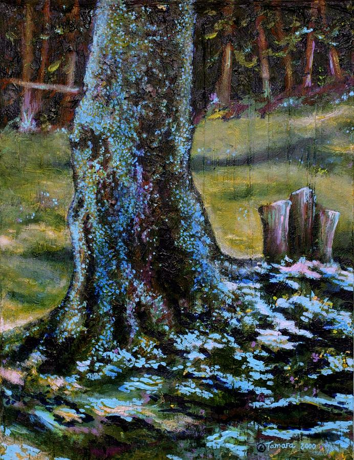 Trees Painting - Blue Fairy Tree by Tamara Kulish