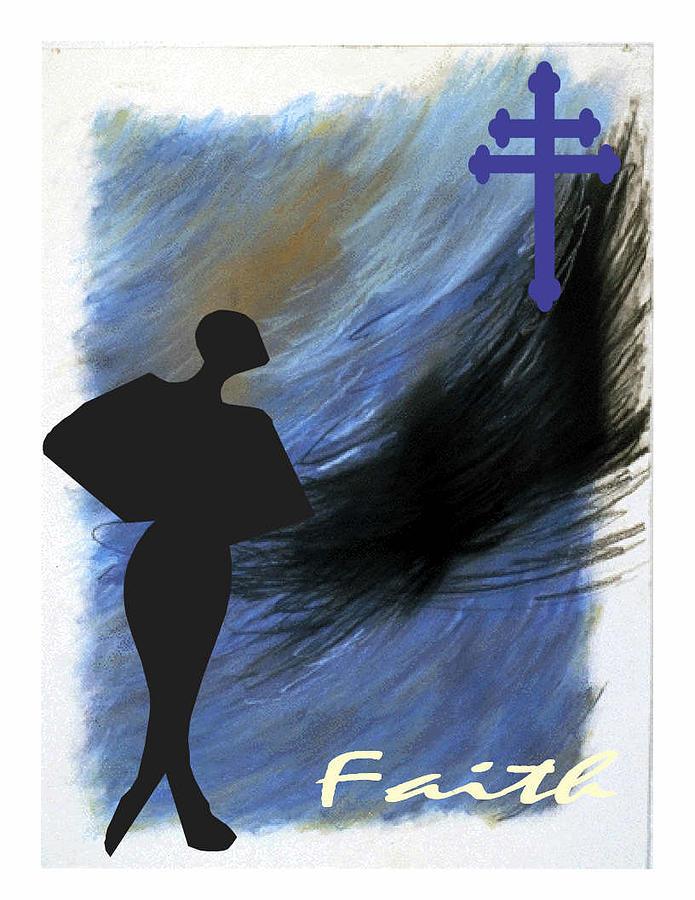 Faith Digital Art - Blue Faith by Lynn Darnelle