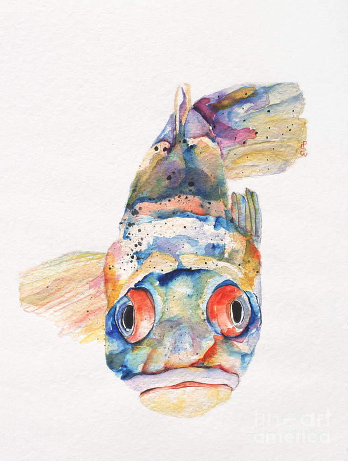 Fish Painting - Blue Fish   by Pat Saunders-White