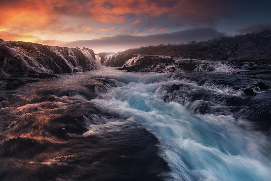 Blue Flow Photograph by Carlos F. Turienzo
