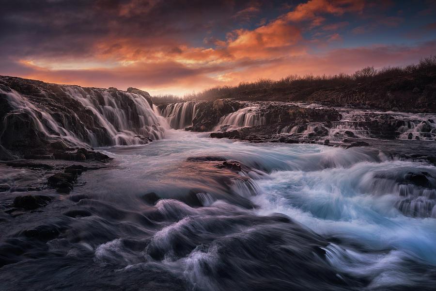 Blue Flow II Photograph by Carlos F. Turienzo
