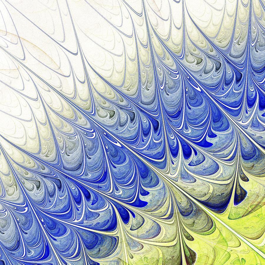 Prickle Digital Art - Blue Folium by Anastasiya Malakhova