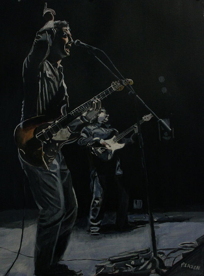 Music Painting - Blue For The Blues by Patricio Lazen