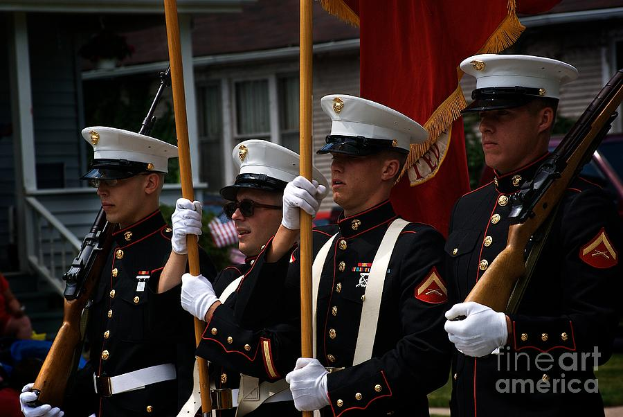 Marines Photograph - Blue by Frank J Casella