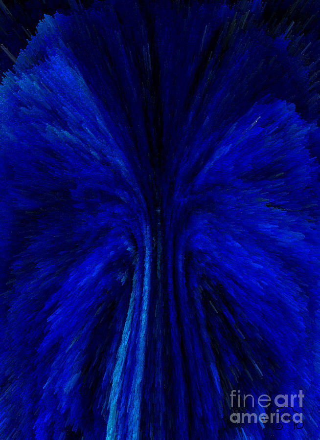 Blue Digital Art - Blue Fuzz by Patricia Kay