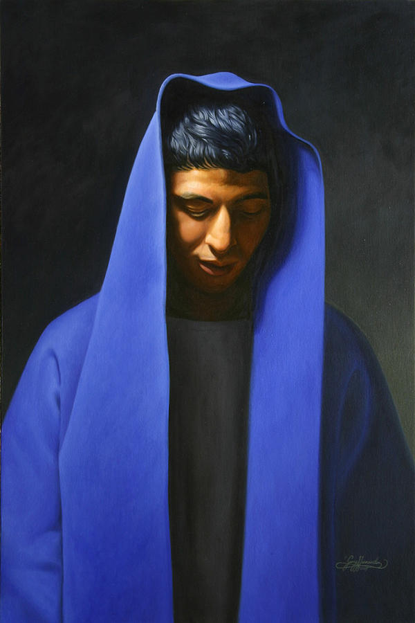 Blue Painting - Blue by Gary  Hernandez