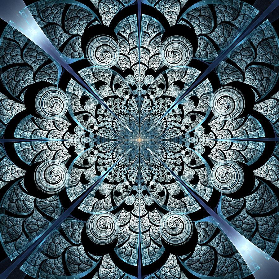 Interior Digital Art - Blue Gates by Anastasiya Malakhova