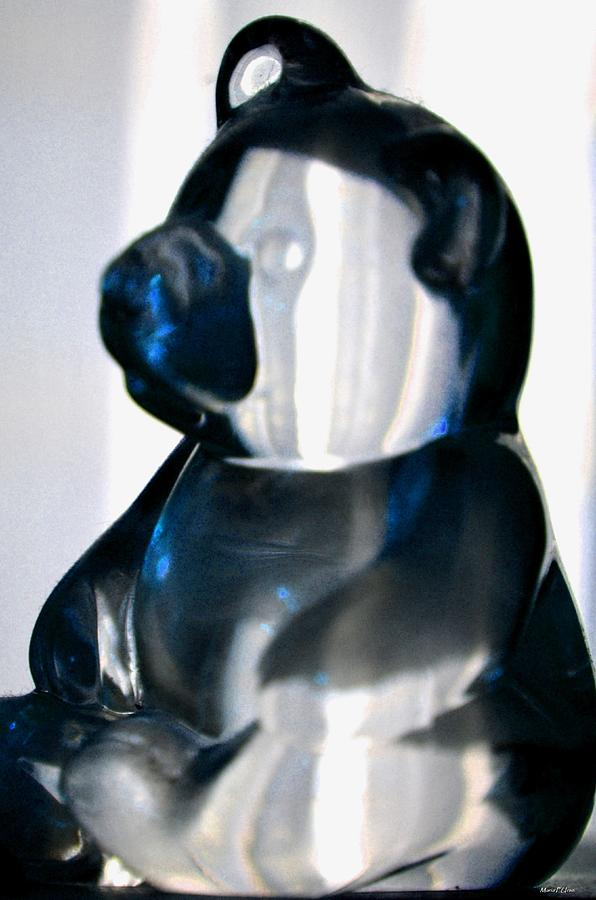 Blue Photograph - Blue Glass Bear by Maria Urso