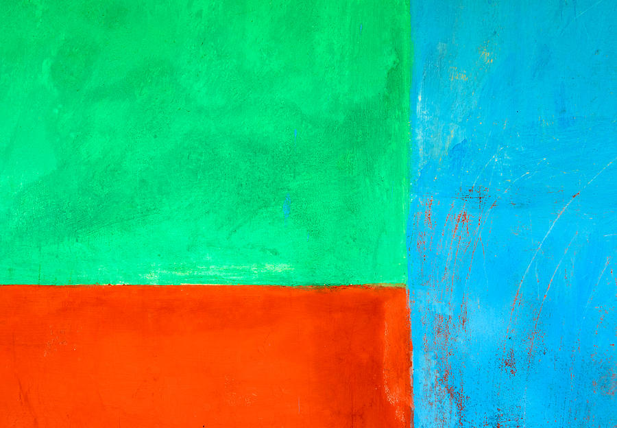 Blue Green And Orange Abstract Background Photograph