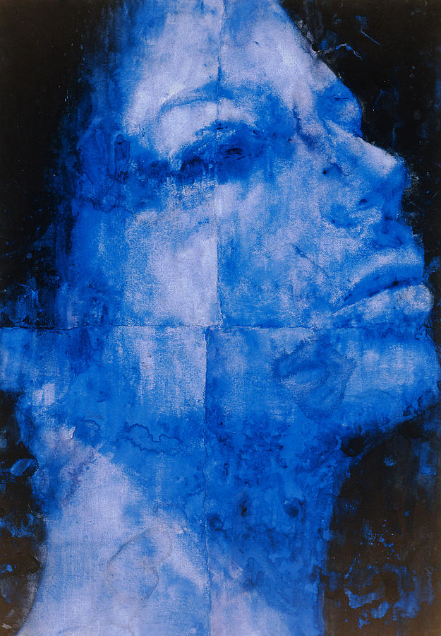 Blue Head Painting By Graham Dean