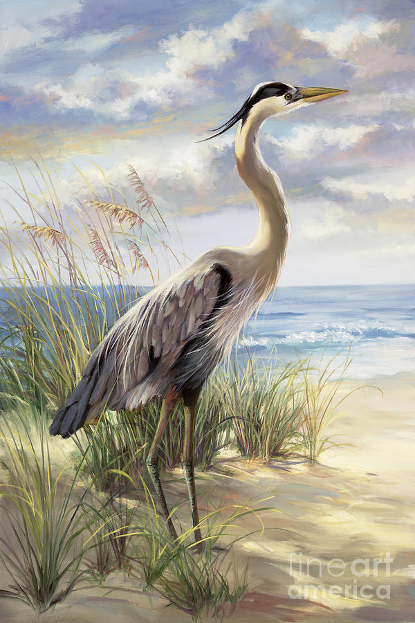 Heron Painting - Blue Heron Deux by Laurie Snow Hein
