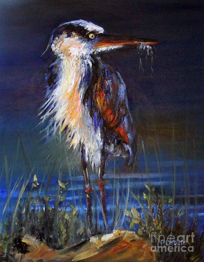 Blue Heron Painting - Blue Heron by Priti Lathia