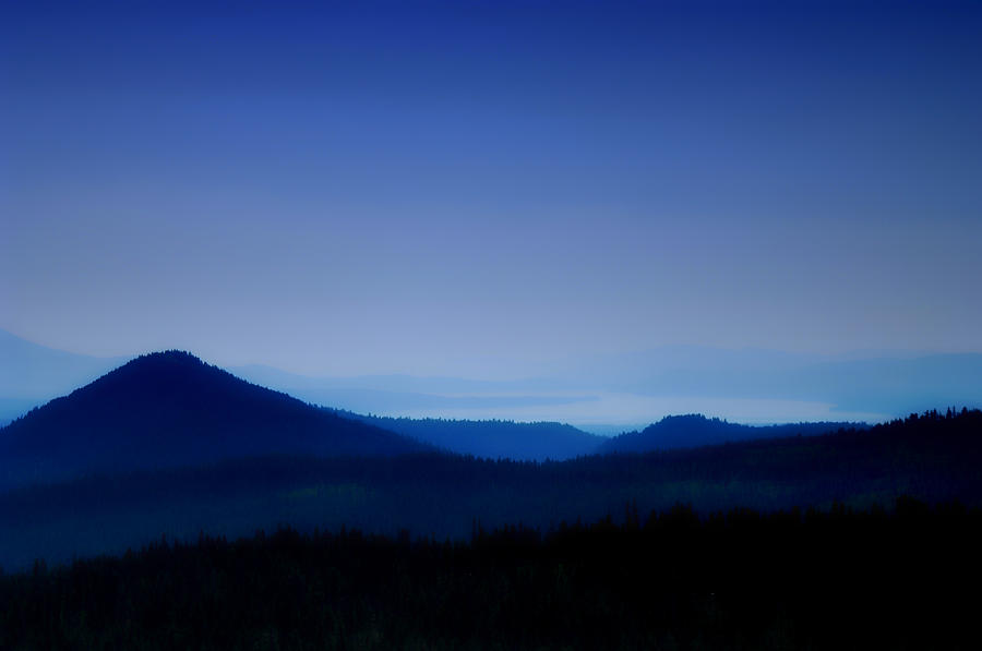 Mountains Photograph - Blue Horizon by Donna Blackhall