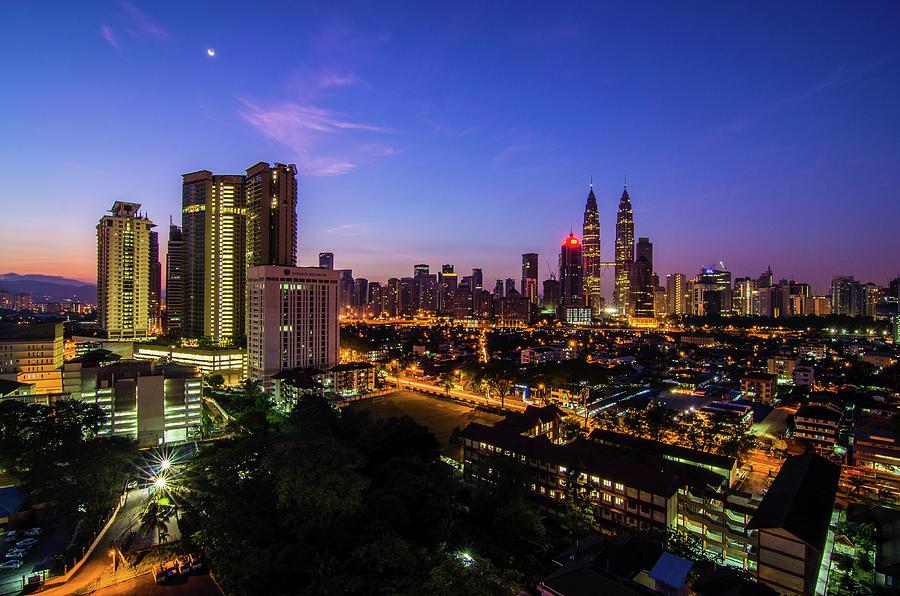 Blue Hour | Kuala Lumpur, Malaysia Photograph by Mohamad Zaidi Photography