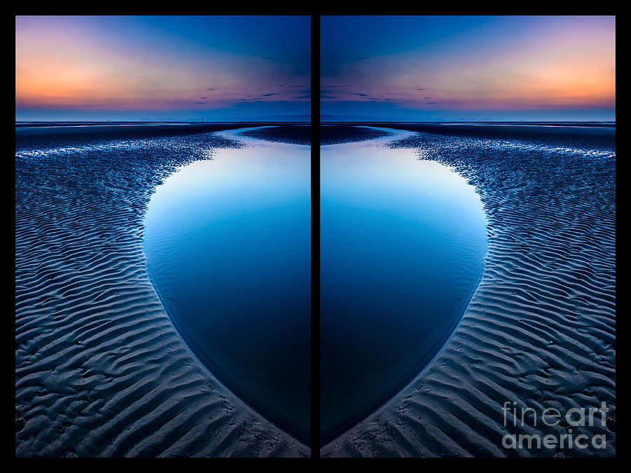 British Photograph - Blue Hour Diptych by Adrian Evans
