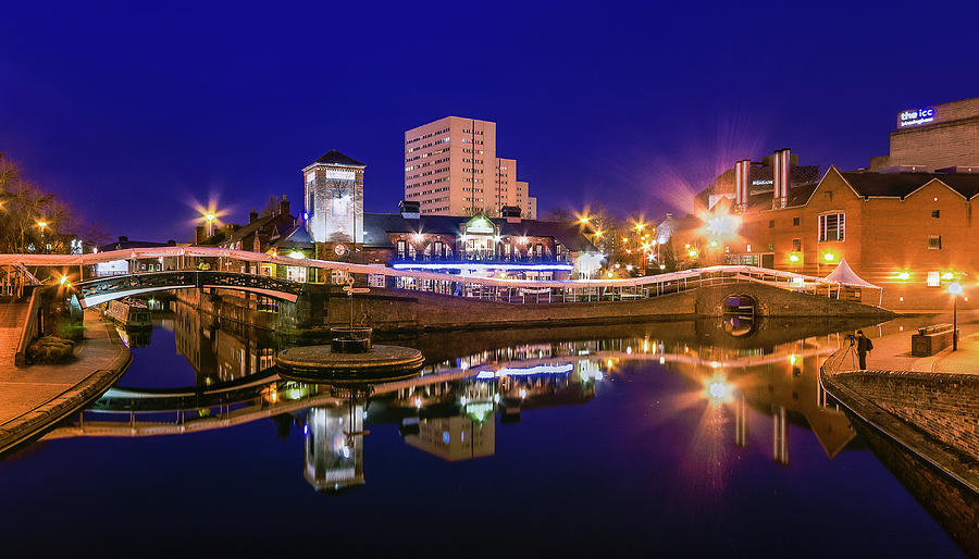 Blue Hour In Birmingham Photograph by Fiona Mcallister Photography