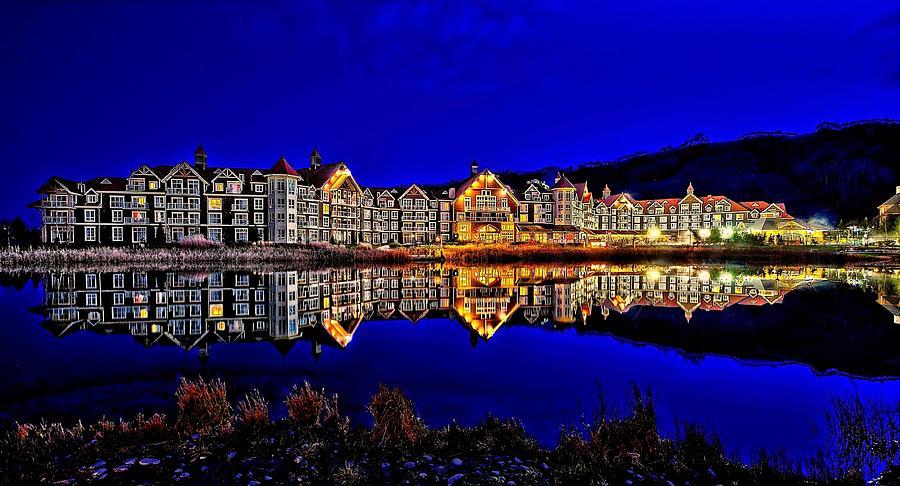 Landscape Digital Art - Blue Hour Reflection by Jeff S PhotoArt