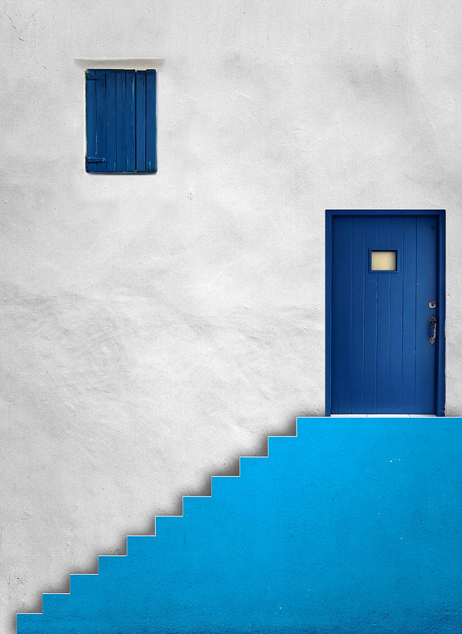 Abstract Photograph - Blue House by Alfonso Novillo