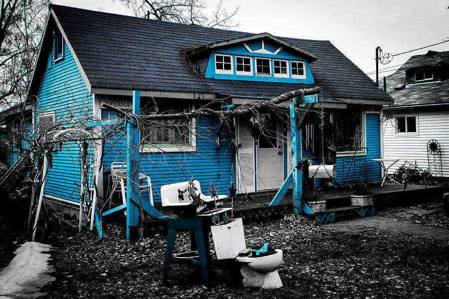 Blue House Photograph by Milan Kalkan
