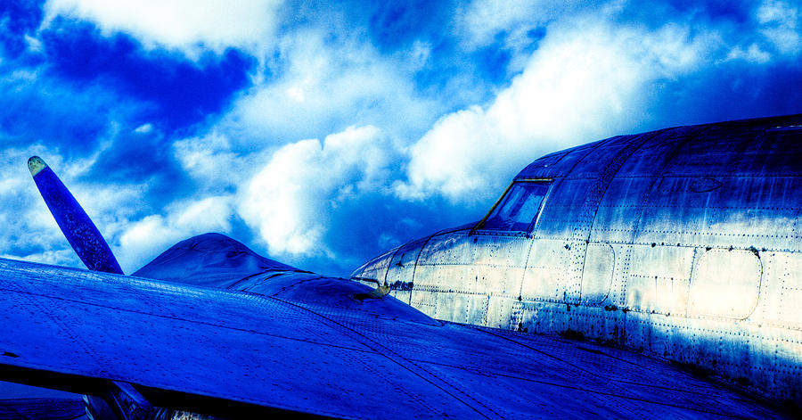 Lockheed Hudson Photograph - Blue Hudson by motography aka Phil Clark
