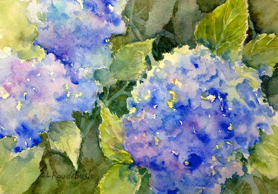 Hydrangea Painting - Blue Hydrangea by Cynthia Roudebush