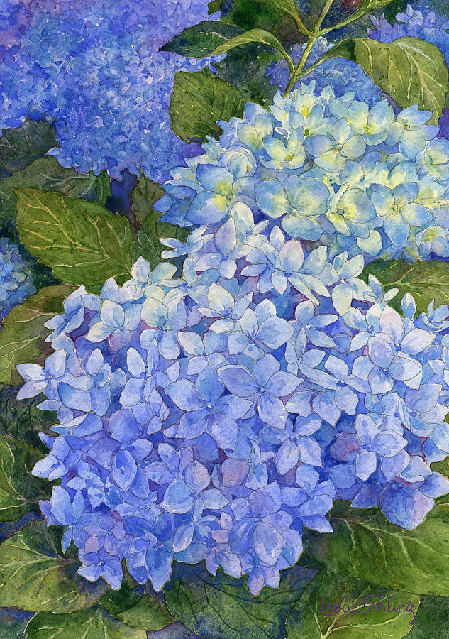 How To Paint Blue Hydrangeas In Acrylic Paint