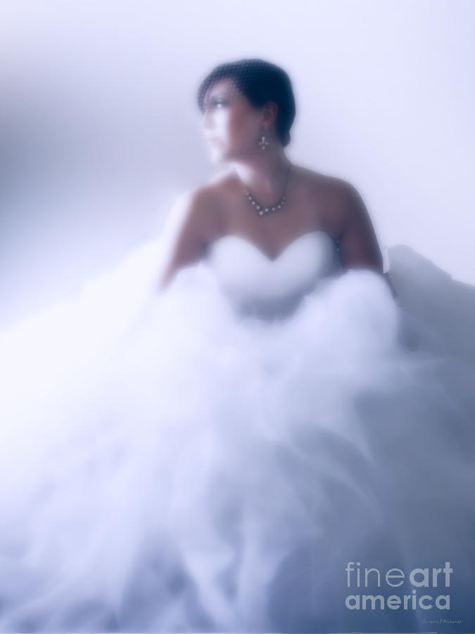 White Dress Photograph - Blue Ice by Barbara D Richards