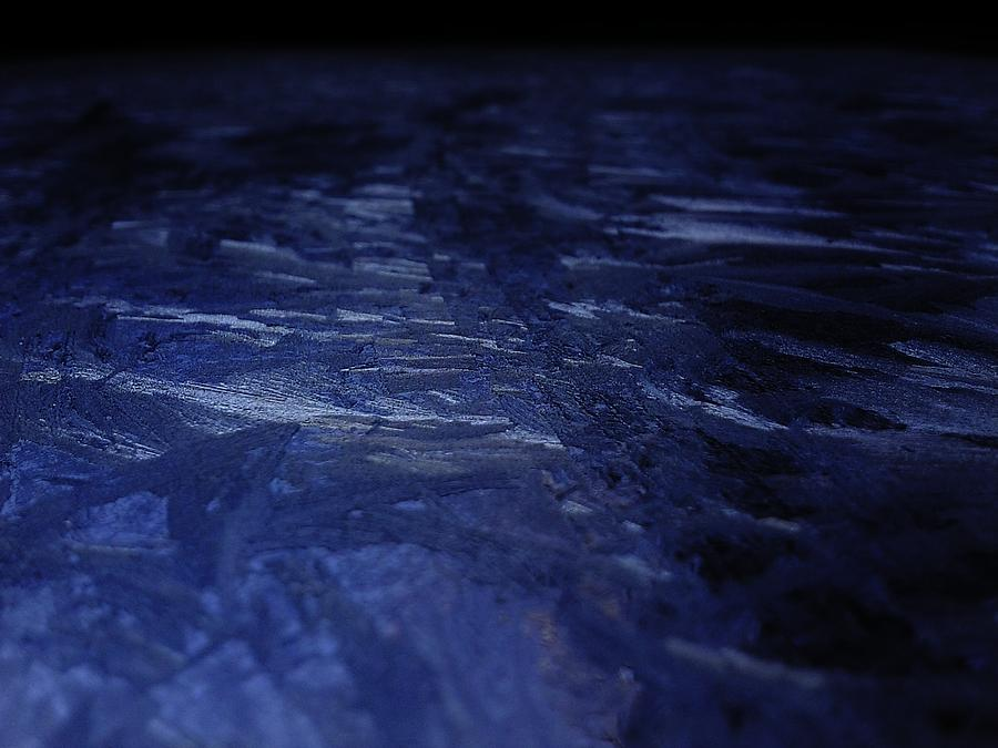 Macro Photograph - Blue Ice Planet by Jaime Neo